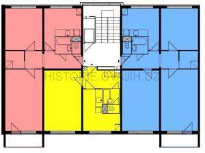Malou úpravou vznikla varianta s byty velikosti 1+1 až 3+1