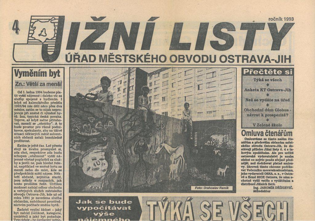 Jižní listy, vydání z roku 1993.