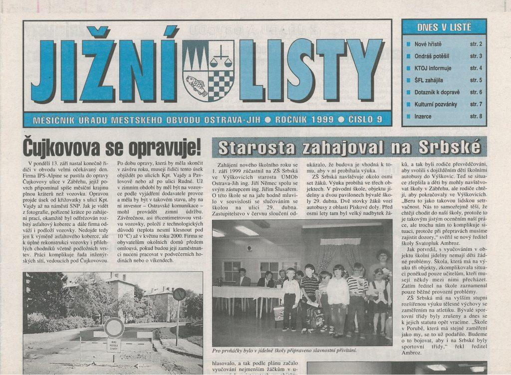Jižní listy, vydání z roku 1999.