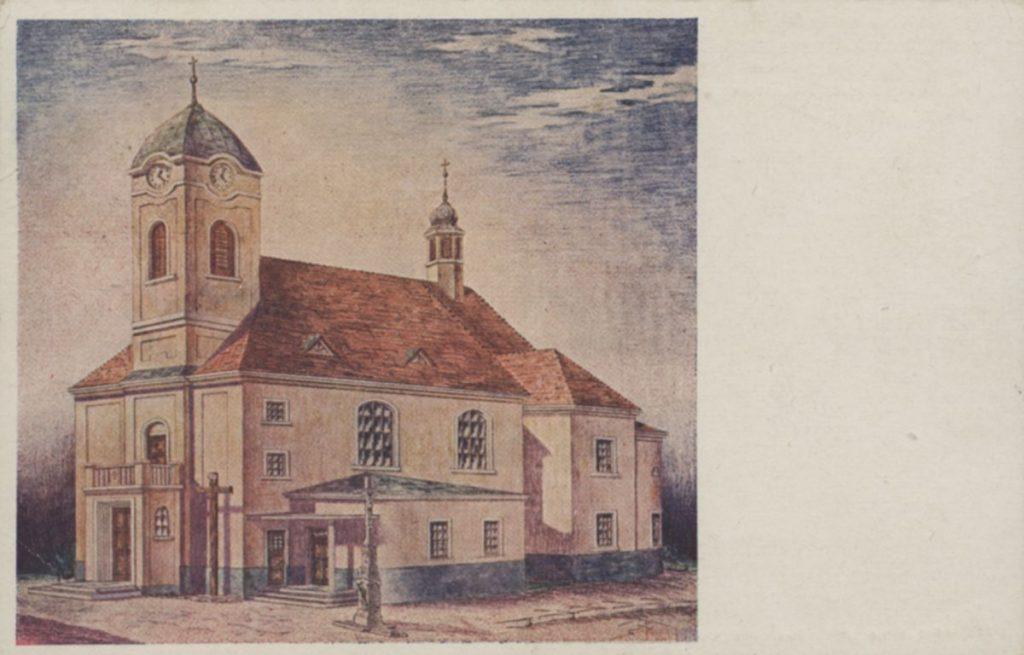 Zděný zábřežský kostel Navštívení Panny Marie.